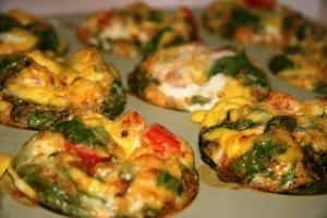 Scrambled egg & veggie muffins
