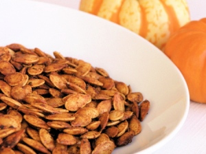Spicy Roast Pumpkin Seeds - A Healthy Snack