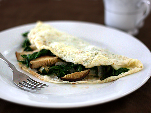 Omelet with Shiitake Mushrooms: a perfect way to get extra vitamin D in your diet