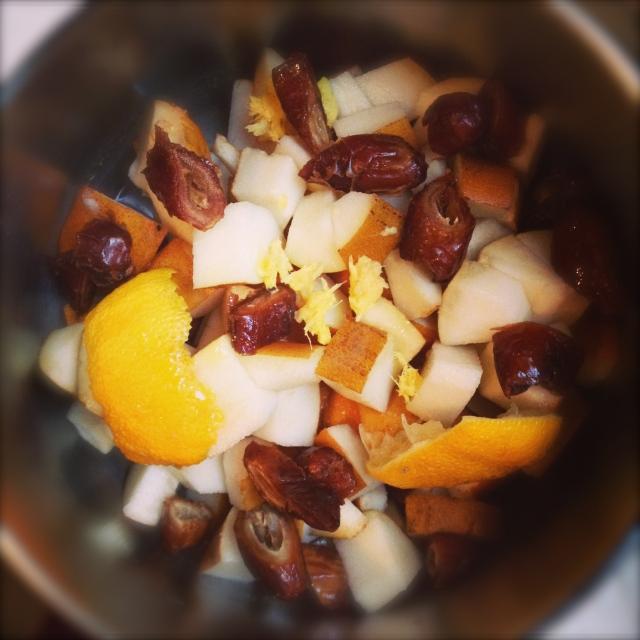 pear ginger lemon compote