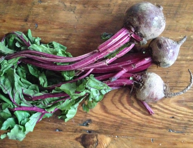 Roast the beets and make these muffins and eat the rest in a simple green salad. You don't need to throw the greens away either - wash, chop and sauté in some coconut oil just like you would sauté kale or swiss chard!