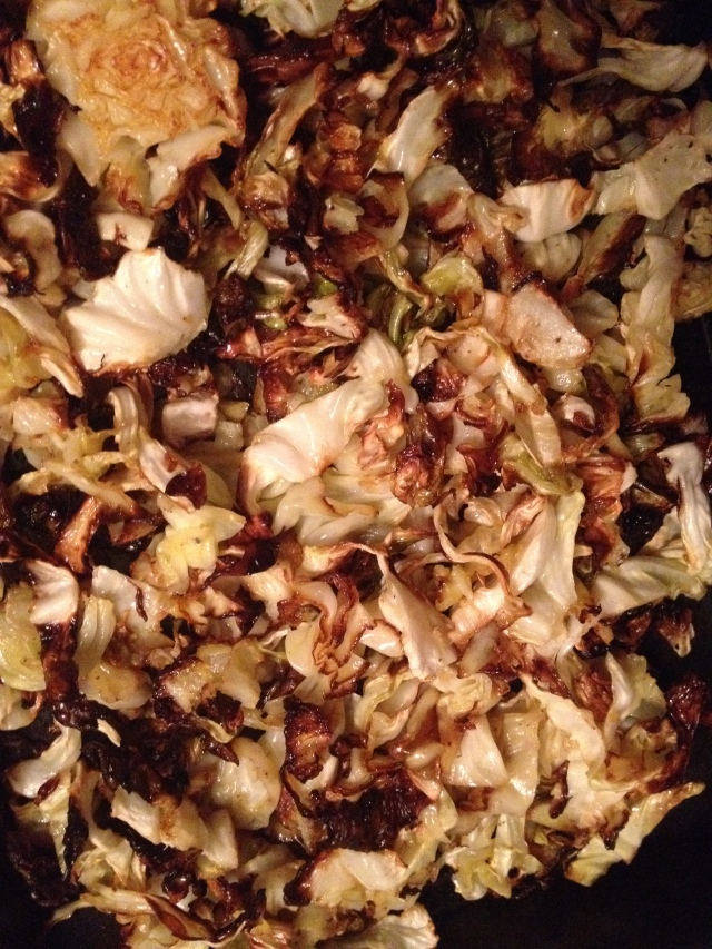Roasted Cabbage with Spices