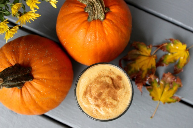 Pumpkin and sweet potato smoothie